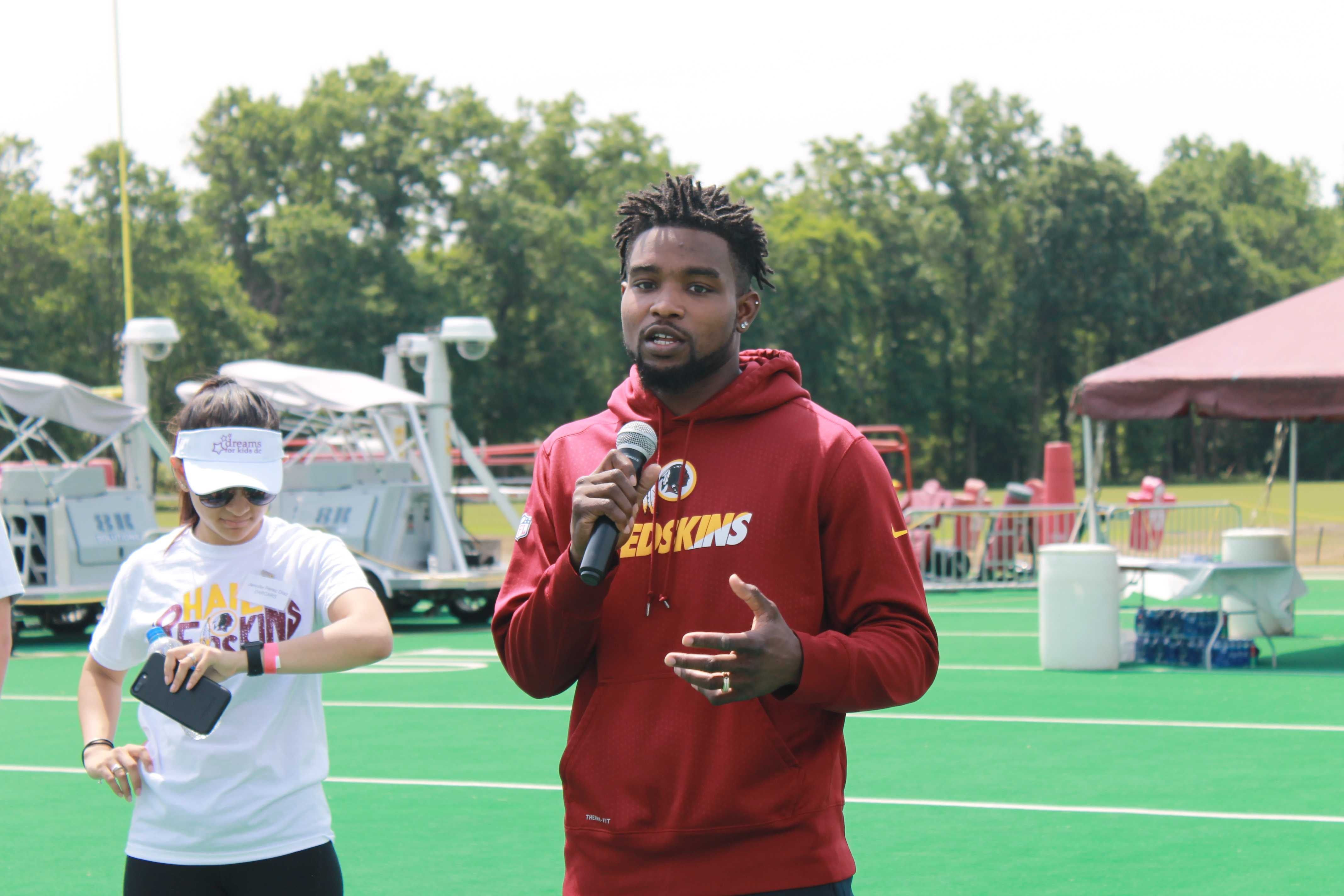 Dreams For Kids DC and Washington Redskins Host Charity Football Clinic