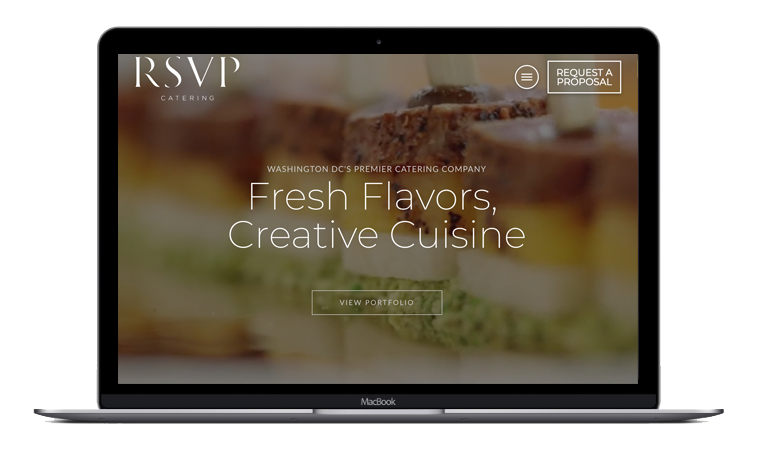 New Website Launch: RSVP Catering