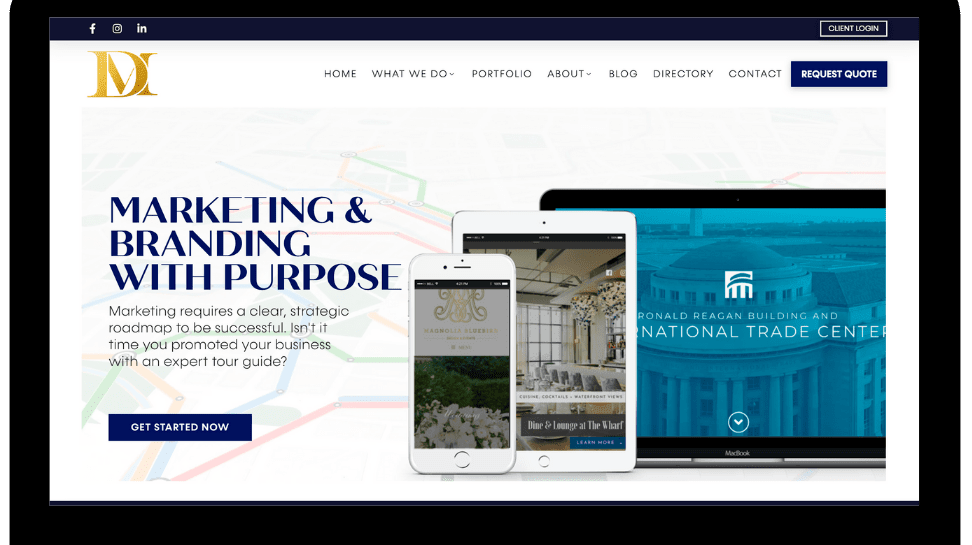 Hospitality Marketing Agency, District Maven, Launches New Website & Client Portal